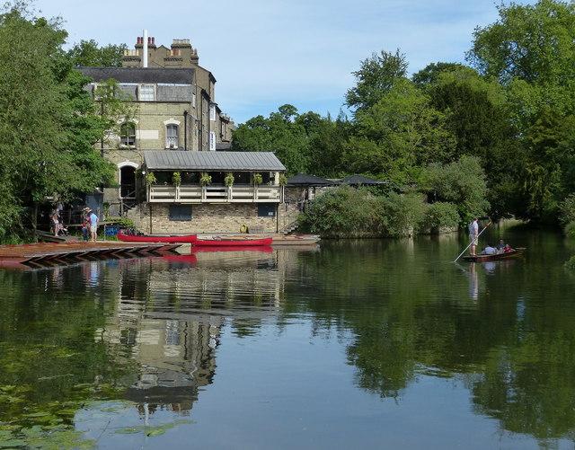 Granta pub next to the Mill Pit in Cambridge