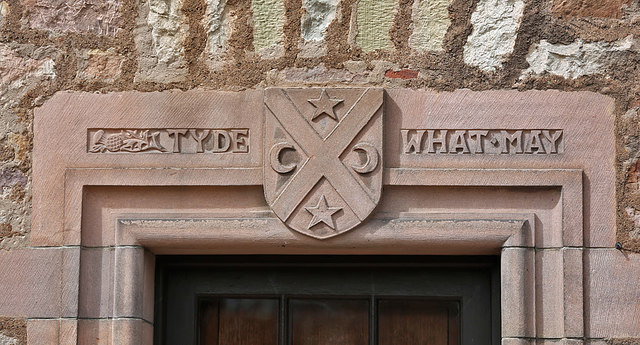 An inscribed door lintel at Bemersyde House