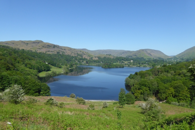 Looking down from Loughrigg Terrace