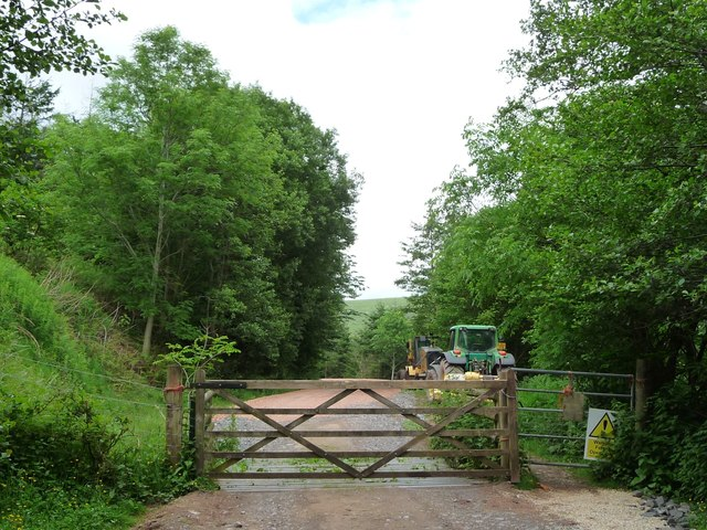 Southern entrance to Llanthony Wood