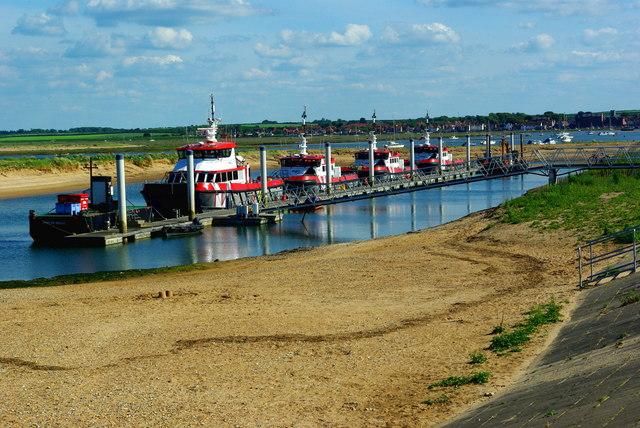 Wind farm supply boats