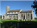 TG1633 : St Andrew's, Wickmere (Round Tower Church) by G Laird