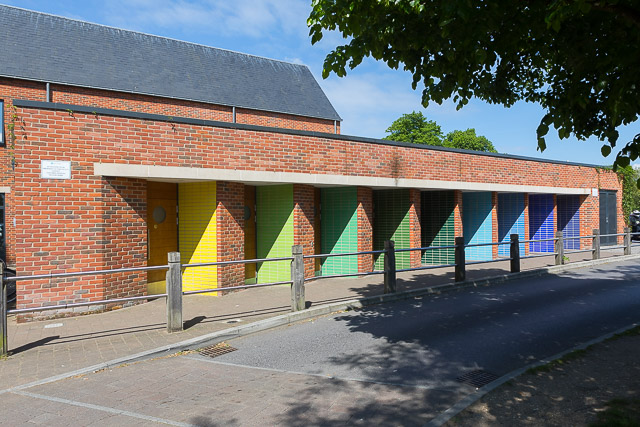 Colourful public toilets in Furlong Car Park