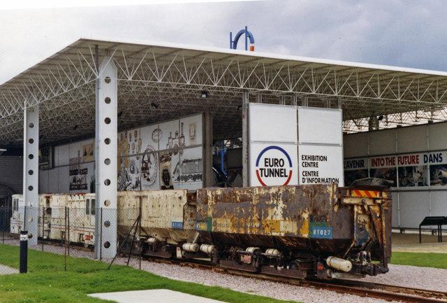 Contractor's train at Channel Tunnel Exhibition Centre, Folkestone 1992