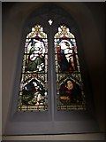 TQ2075 : St Mary Magdalen R.C. Church, Mortlake: stained glass window (a) by Basher Eyre
