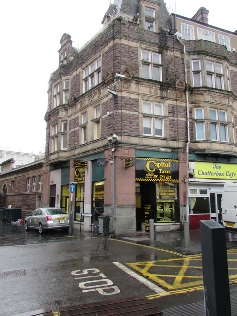 Capitol Taxis office in Newport city centre by Jaggery