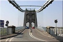 SH5571 : The A5 approaching the Menai Suspension Bridge by Jeff Buck