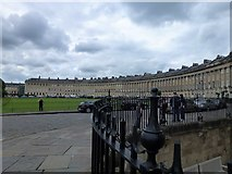 ST7465 : Railings and The Royal Crescent in Bath by Richard Humphrey