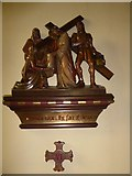 TQ2075 : St Mary Magdalen R.C. Church, Mortlake: Sixth Station of the Cross by Basher Eyre