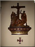 TQ2075 : St Mary Magdalen R.C. Church, Mortlake: Twelfth Station of the Cross by Basher Eyre