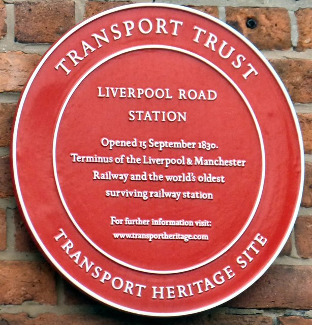 Liverpool Road Station plaque