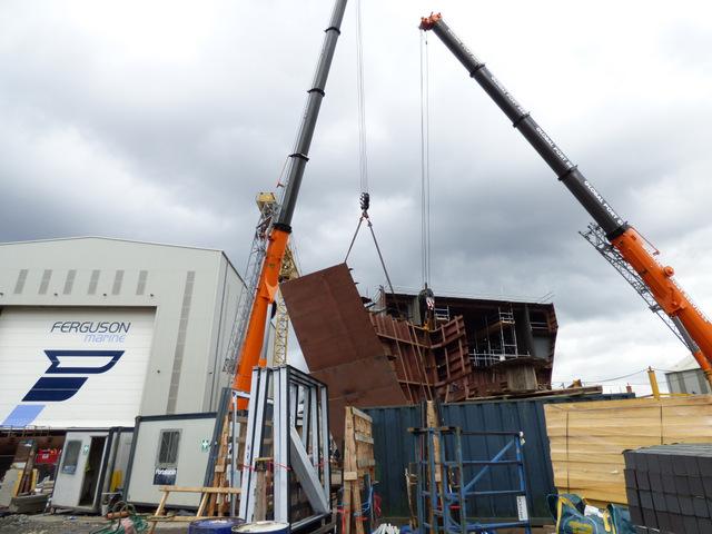 Building Hull 801 at Ferguson Marine shipyard