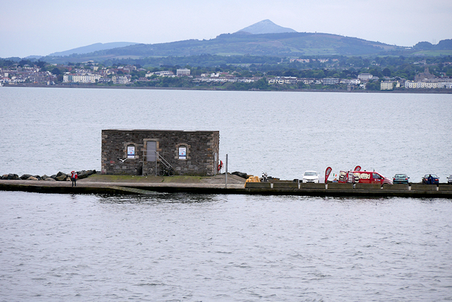 Disused Pumphouse on the Great South Wall