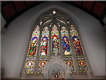 TQ2075 : St Mary Magdalen R.C. Church, Mortlake: stained glass window (i) by Basher Eyre