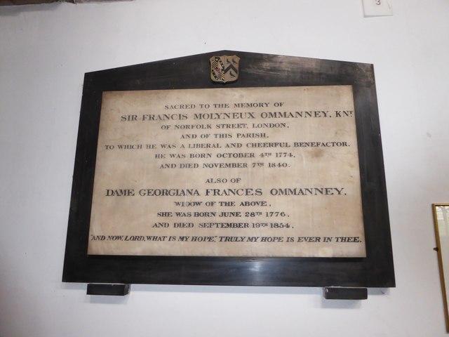 St Mary the Virgin, Mortlake: memorial (a)