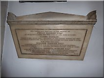TQ2075 : St Mary the Virgin, Mortlake: memorial (b) by Basher Eyre
