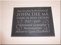 TQ2075 : St Mary the Virgin, Mortlake: memorial (i) by Basher Eyre