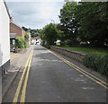 ST5394 : No parking in Church Road Chepstow by Jaggery
