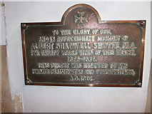 TQ2075 : St Mary the Virgin, Mortlake: memorial (o) by Basher Eyre