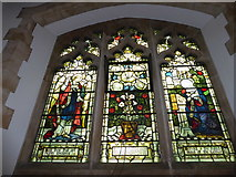 TQ2075 : St Mary the Virgin, Mortlake: stained glass window (d) by Basher Eyre
