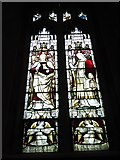 TQ2075 : St Mary the Virgin, Mortlake: stained glass window (h) by Basher Eyre
