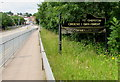 ST5393 : Welcome to Chepstow sign by Jaggery