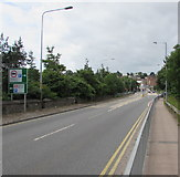 ST5393 : A48 towards Chepstow town centre by Jaggery