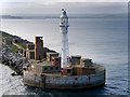 SY7076 : Portland Breakwater Lighthouse by David Dixon