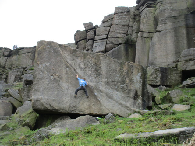 Bouldering in Stanage Edge