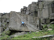 SK2384 : Bouldering in Stanage Edge by Jonathan Thacker