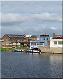 SK5838 : Nottingham Office Equipment, Meadow Lane and the Trent by John Sutton