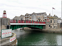 SY6778 : Weymouth Town Bridge by David Dixon
