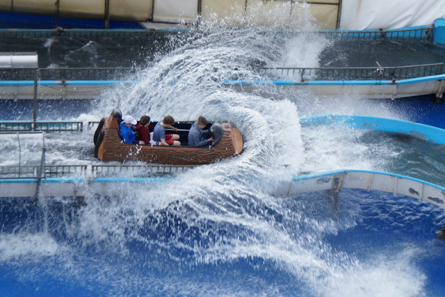 The White Water ride at M&Ds Theme Park