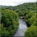SJ2642 : The River Dee south of Trevor, Wrexham by Roger  Kidd
