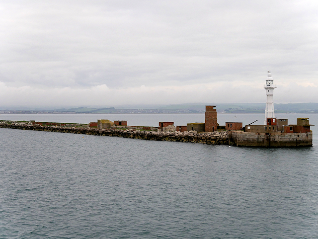 Portland Harbour, North Eastern Breakwater and Lighthouse