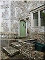 SY2597 : Corner of interior courtyard, Shute Barton by Derek Voller