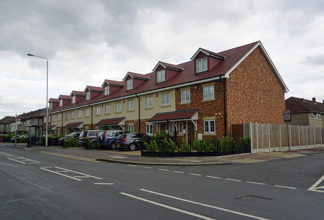 Houses on the site of the former Crooked Billet public house