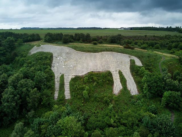 Kilburn White Horse close-up