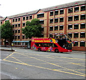 ST1876 : City Sightseeing red open-top bus  in Cardiff city centre by Jaggery