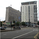 ST1876 : Multistorey buildings in Cardiff city centre by Jaggery