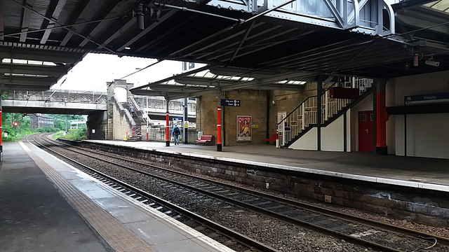 Bingley station, looking north-west