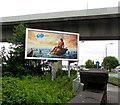 ST2178 : Fab advert between two bridges, Rumney, Cardiff by Jaggery