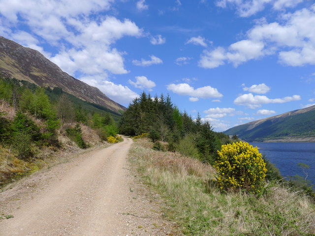 The Great Glen Way alongside Loch Lochy