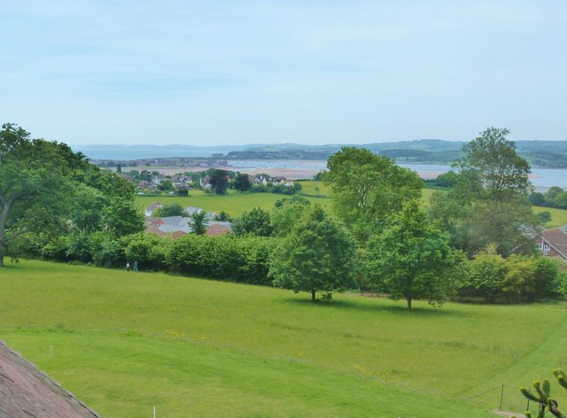 View from the upper windows of A la Ronde, Exmouth, Devon