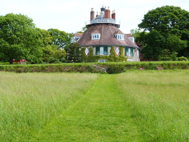 """""""A la Ronde"""", A quirky sixteen sided house, near Exmouth, Devon"""