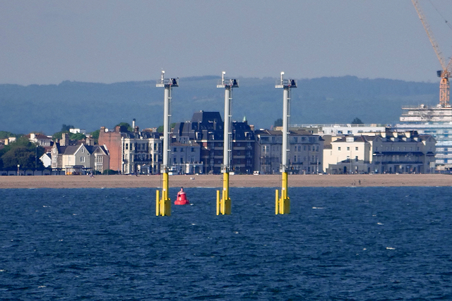 de82e38cdb666 Light Towers in The Solent near... © David Dixon :: Geograph Britain ...