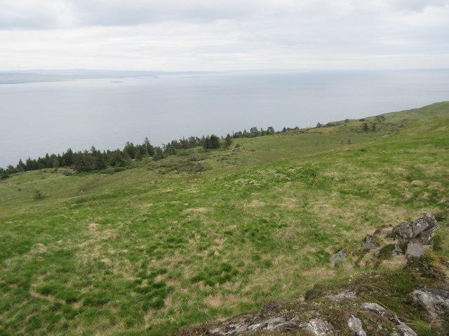 East slope of Beinn Sgaillinish