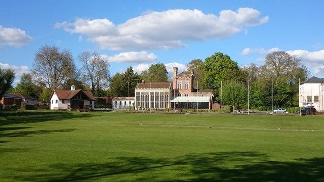 Hoe Bridge School cricket pitch