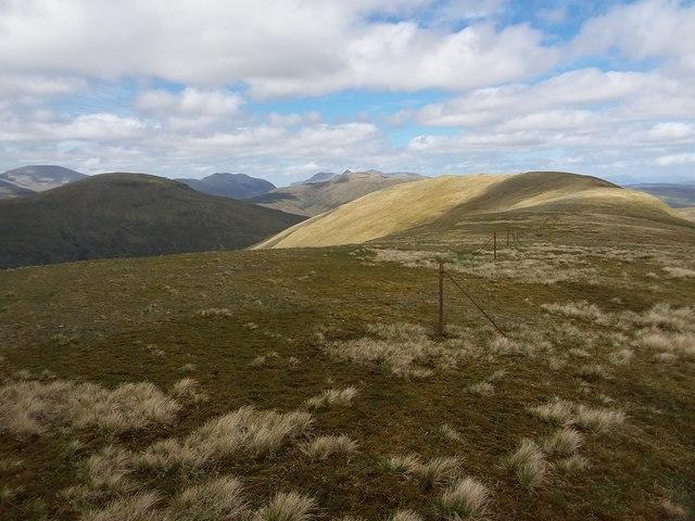 Summit ridge of Meallan Chuaich