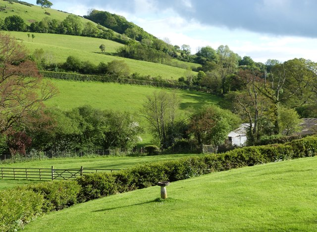 View South-west  from the windows of Owls Brook cottage, part of Batts Brook alpaca farm, Doddiscomsleigh